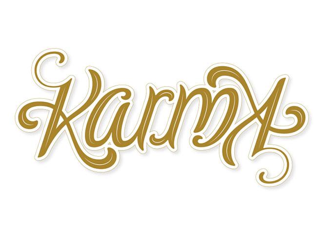 Karma Ambigram by Nikita Prokhorov