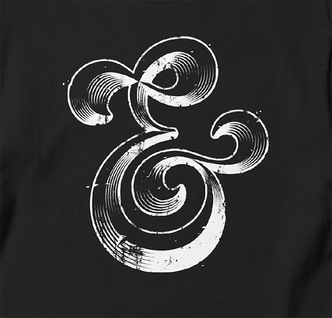 Ampersand T-Shirt by Gregoire Cheynier