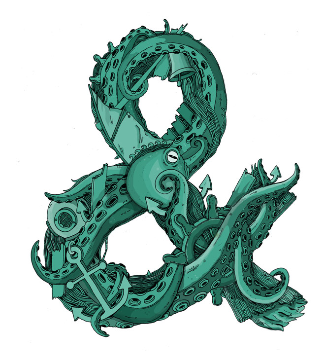 Octopus Ampersand by Toby Triumph