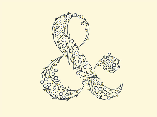 Wildflower Ampersand by Jacob Rhoades