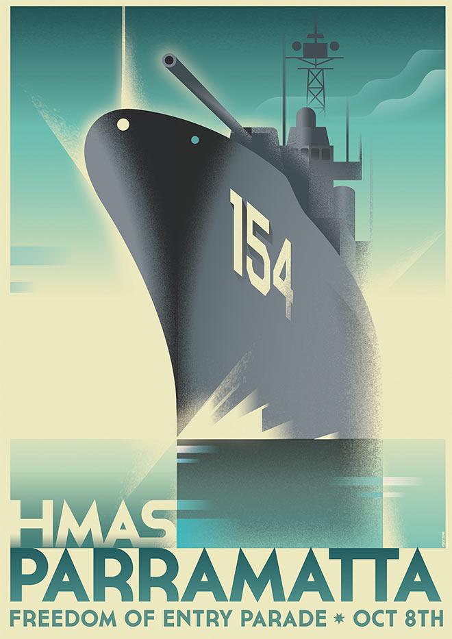 HMAS Parramatta by Mads Berg