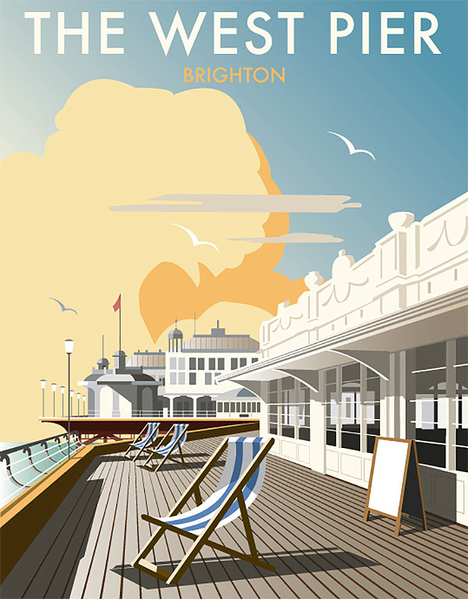 The West Pier by Dave Thompson
