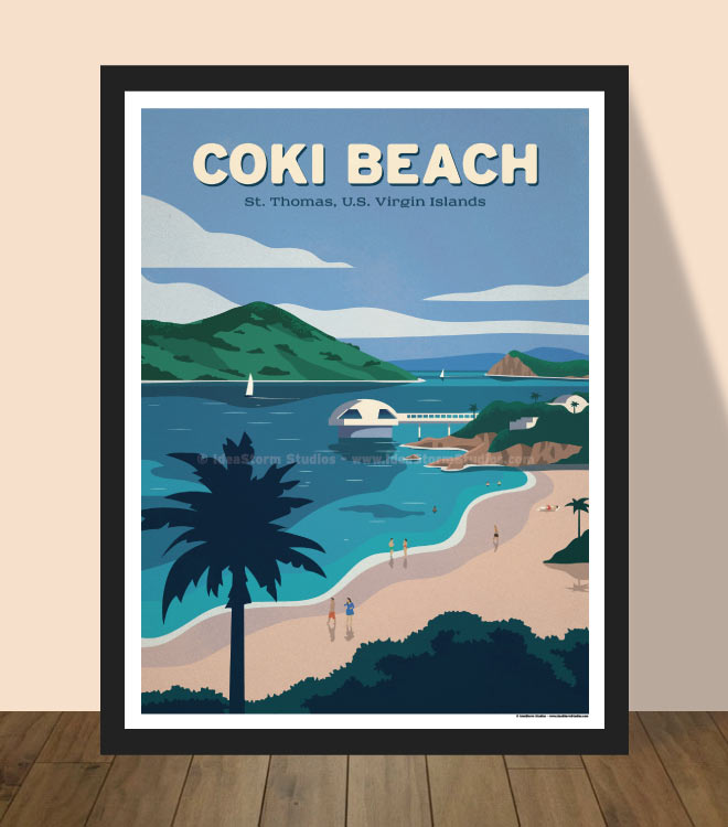 Coki Beach Poster by IdeaStorm