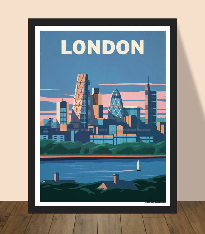 Modern London Poster by IdeaStorm