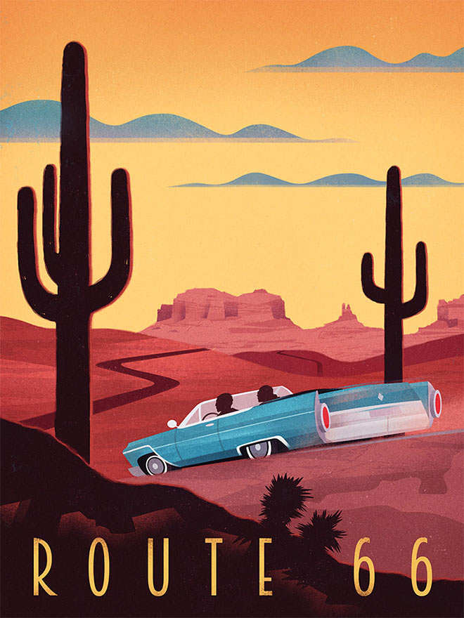 Route 66 by Martin Wickstrom