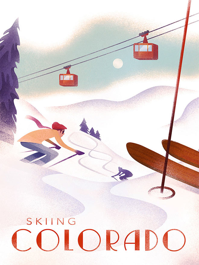 Skiing Colorado by Martin Wickstrom