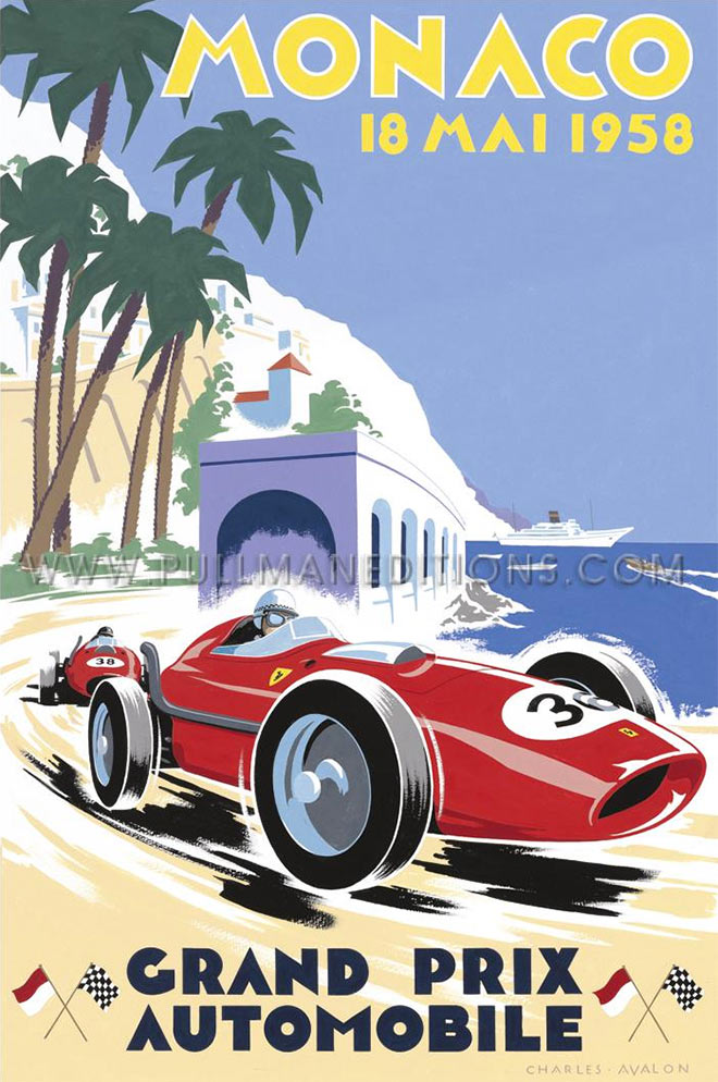 1958 Monaco Grand Prix by Charles Avalon