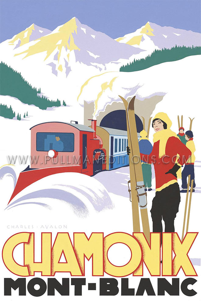 Chamonix Ski Train by Charles Avalon