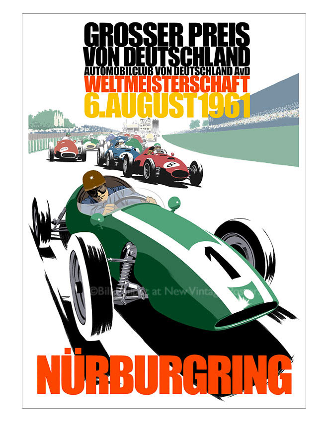 Cooper 1961 Nurburgring by Bill Philpot