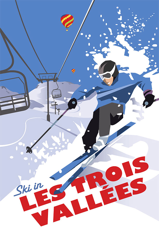 Ski In Les Trois Vallees by Dave Thompson