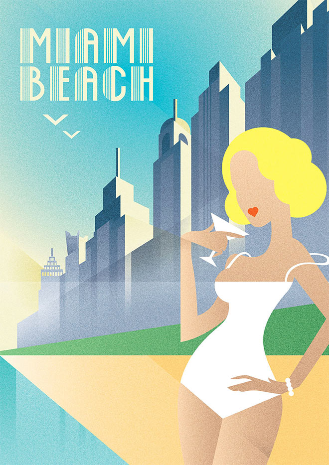 Miami Beach by Sergey Serebrennikov
