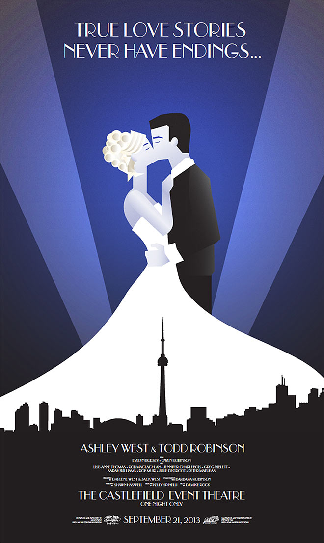 Art Deco Wedding Poster by Stephanie Viau
