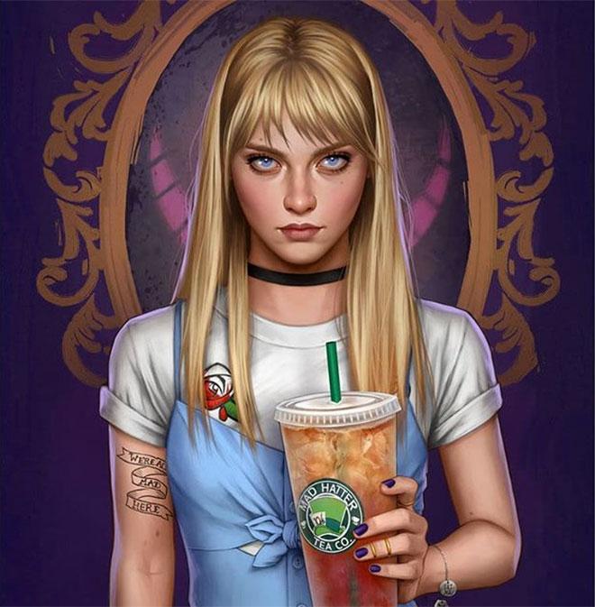 Modern Alice by Fernanda Suarez