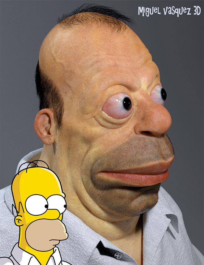 Homer Simpson by Miguel Vasquez