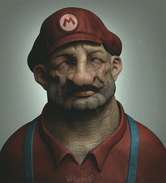 Mario by Wil Hughes