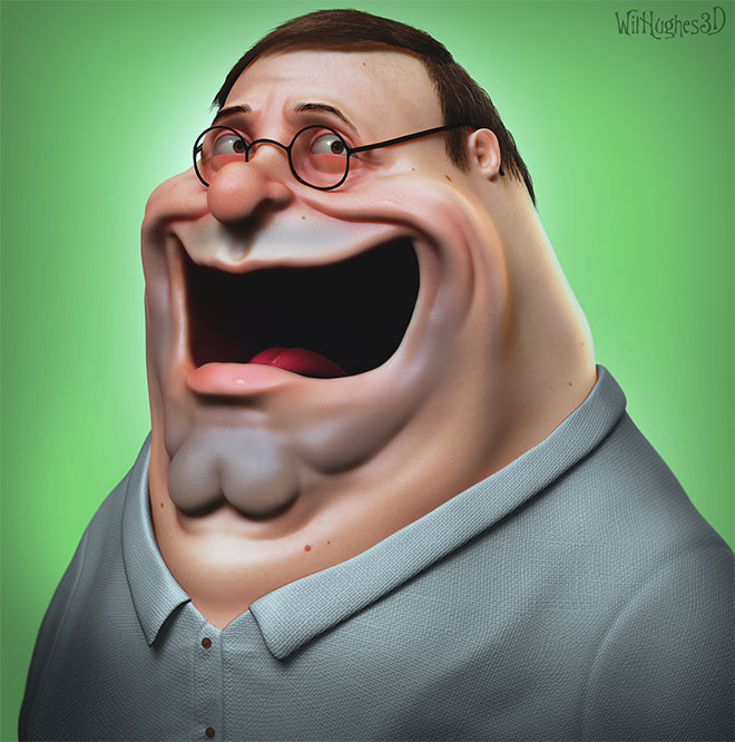 Peter Griffin by Wil Hughes