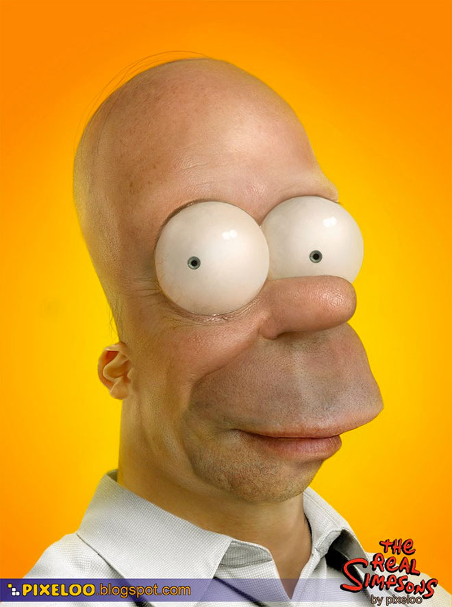 Homer Simpson Untooned by Pixeloo