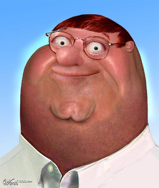 Peter Griffin Reality Cartoon by Rene Walter