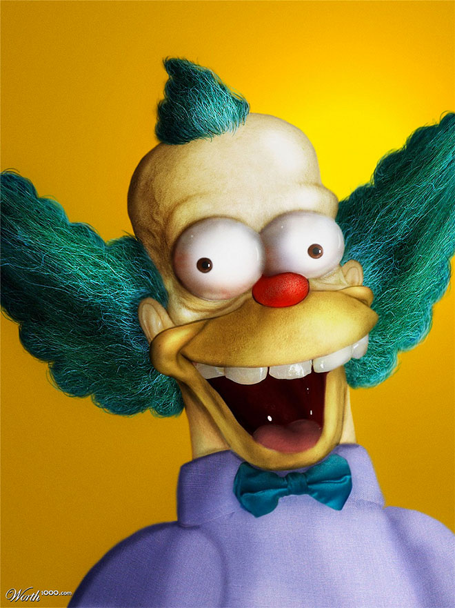 Krusty The Clown Reality Cartoon by Rene Walter