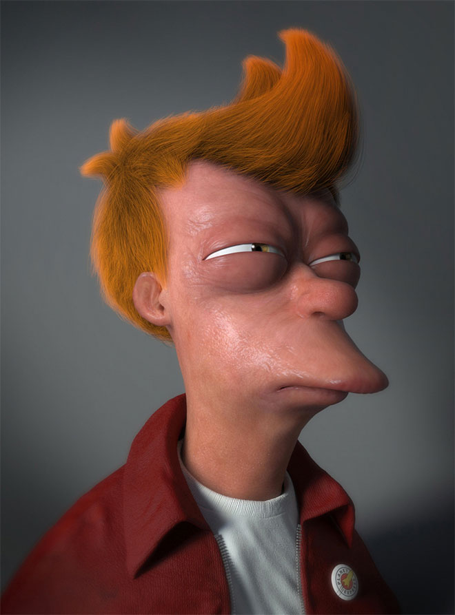 Fry From Futurama by Miguel Miranda