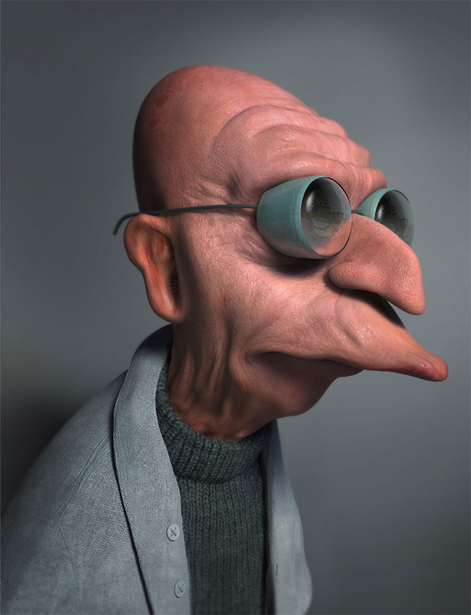 Professor Farnsworth 3D by Miguel Miranda