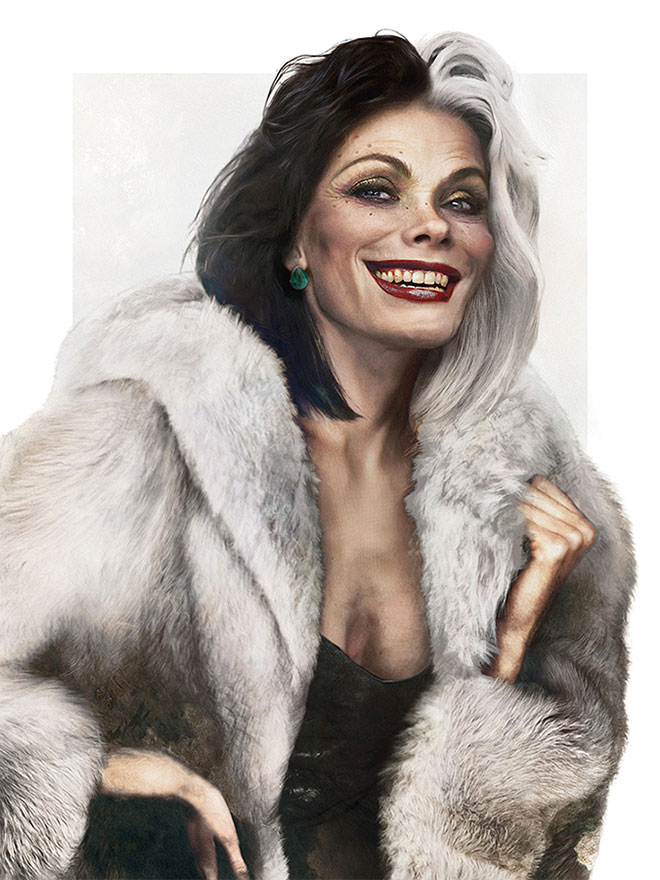 Cruella de Vil from 101 Dalmatians by Jirka Vaatainen