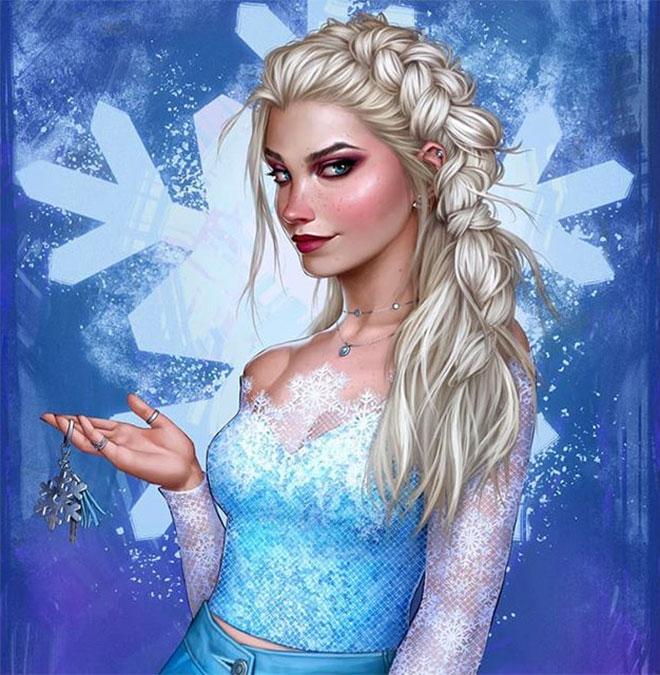 Modern Elsa by Fernanda Suarez
