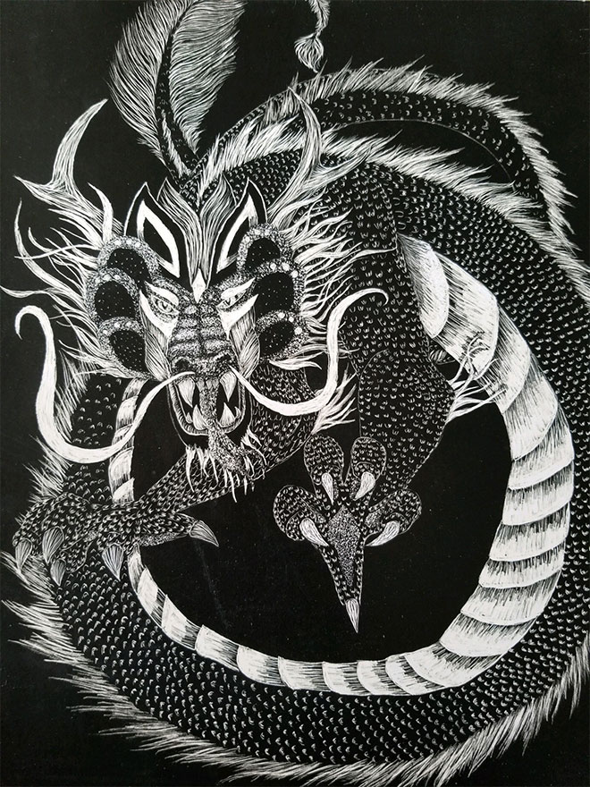 Chinese Dragon by Suzanne Adamson