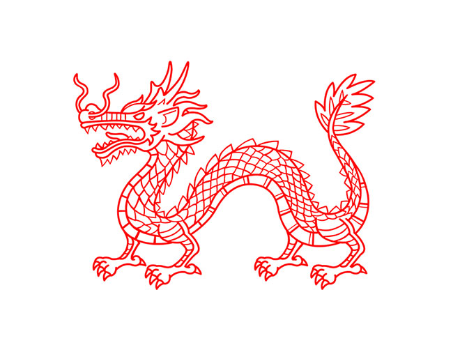 A Whole Chinese Dragon by Keii