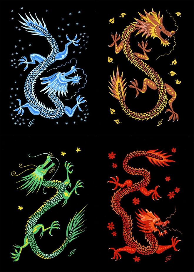 Season Dragons by Maria Sergunina