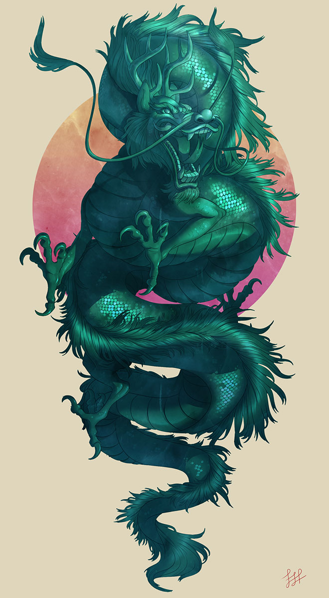 Jade Dragon by Lydia Praamsma