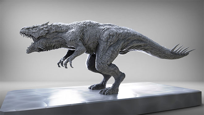 Speed Sculpt Dinosaur by Keita Okada