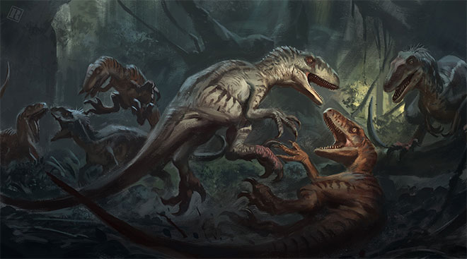 Raptor Tribal Conflict by Raph Lomotan