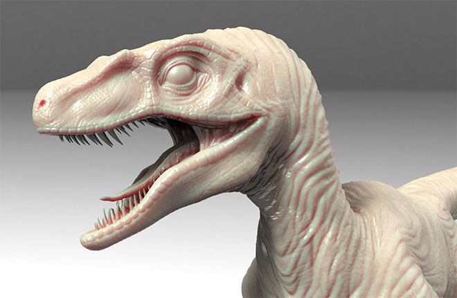 Velociraptor by Tibor Kéri
