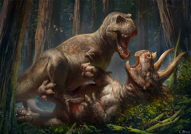 T.Rex vs Triceratops by RJ Palmer