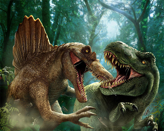 Jurassic Park Dinosaur Battles by Doug Woods