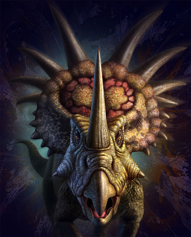 Styracosaurus by Jerry LoFaro
