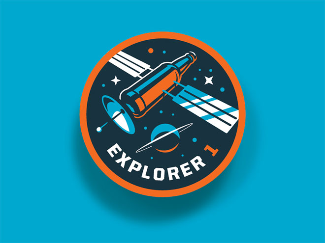 Bottle Logic Mission Patch by Emrich Office