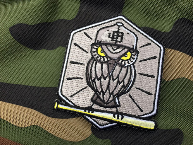 Baseball Owl Patch by Jon Brommet