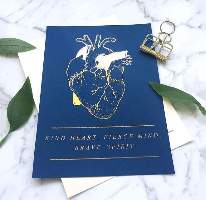 Kind Heart, Fierce Mind, Brave Spirit by Jess_Type