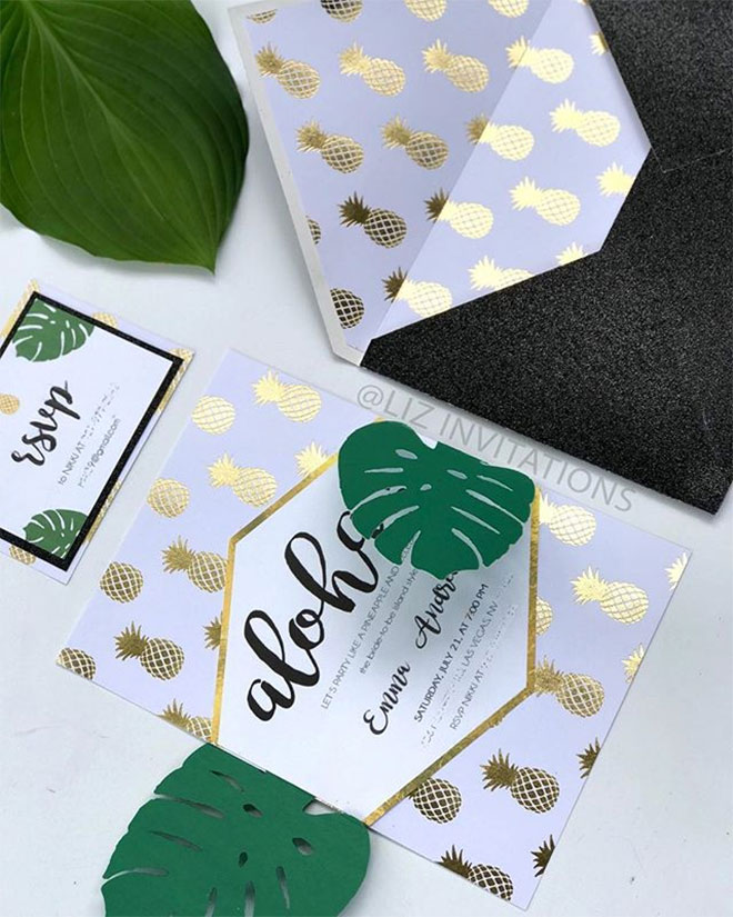 Tropical Glam & Chic by LizInvitations