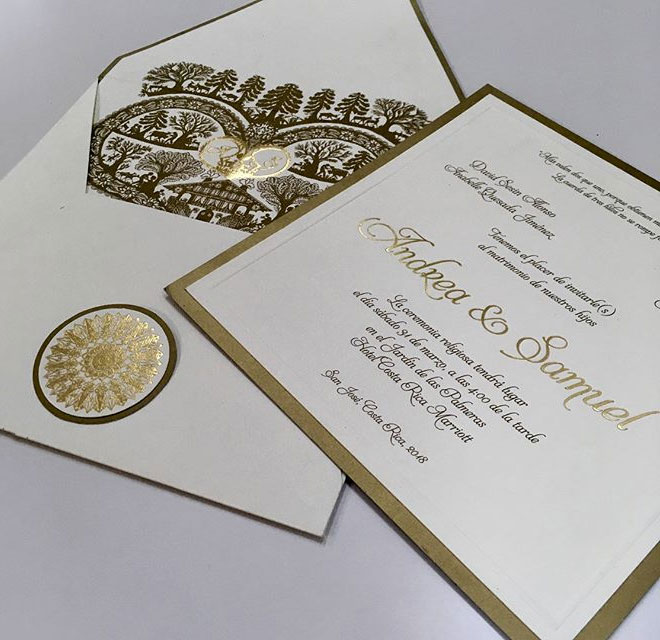Wedding Invitations by Cora Rosell