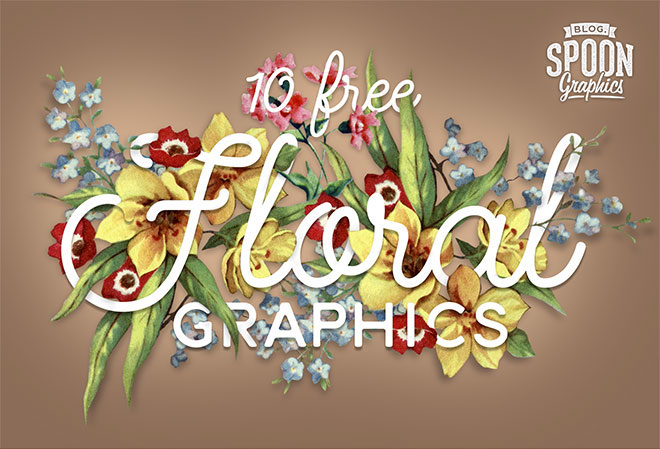 10 Free Floral PNG Graphics of Flowers & Bouquet Illustrations