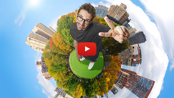Tiny Planet Effect Photoshop Tutorial