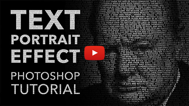 Text Portrait Effect Photoshop Tutorial