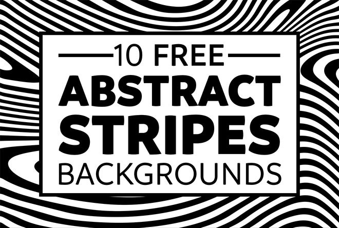 10 Free Abstract Stripes Backgrounds with Distorted Lines