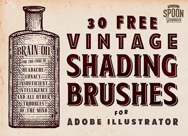30 Free Vintage Shading Brushes for Adobe Illustrator