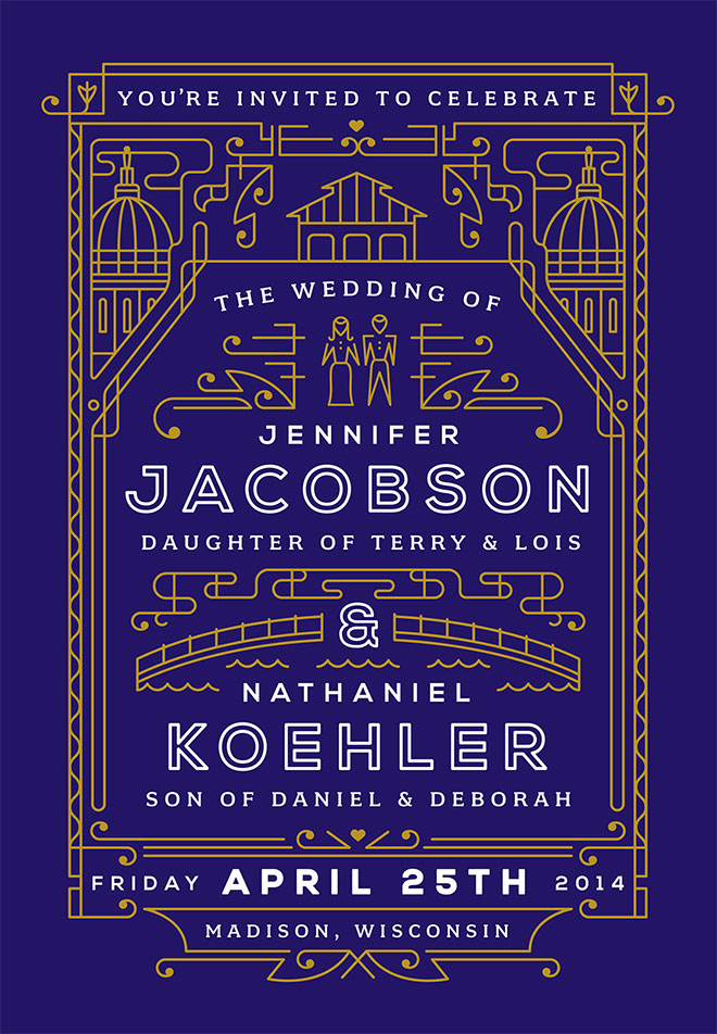Jenn & Nate Wedding Invite by Nate Koehler
