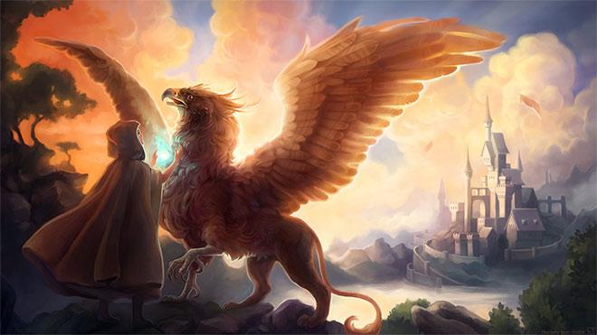 Gryphon Healer by Charlotta Tiuri