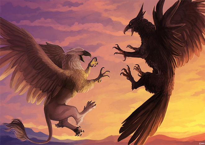 Gryphon and Griffin by Brissinge